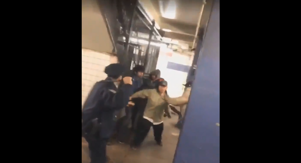 New York officer involved in subway brawl praised for his bravery and extraordinary professionalism by officials.