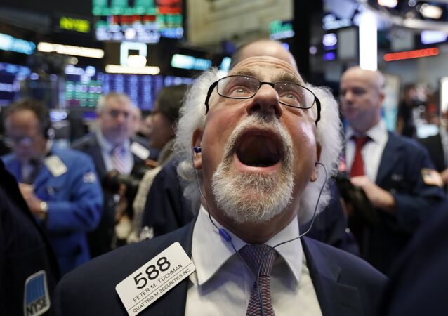 Trader Peter Tuchman works on the floor of the New York Stock Exchange, Friday, Dec. 28, 2018.
