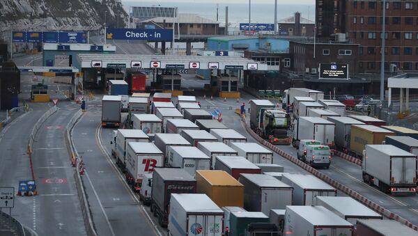 UK No-Deal Lorries Queue - Sputnik International