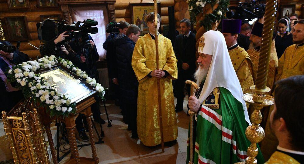 Patriarch Kirill, the head of the Russian Orthodox Church