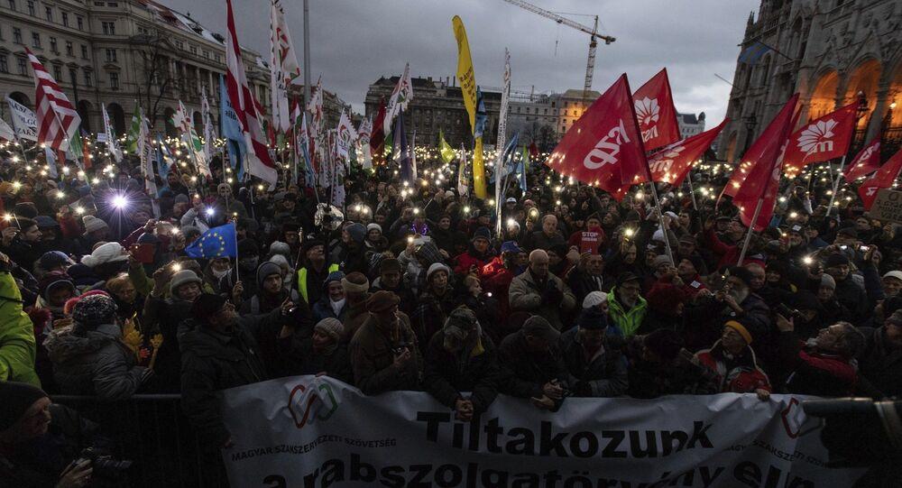 HUNGARY POLITICS PROTEST