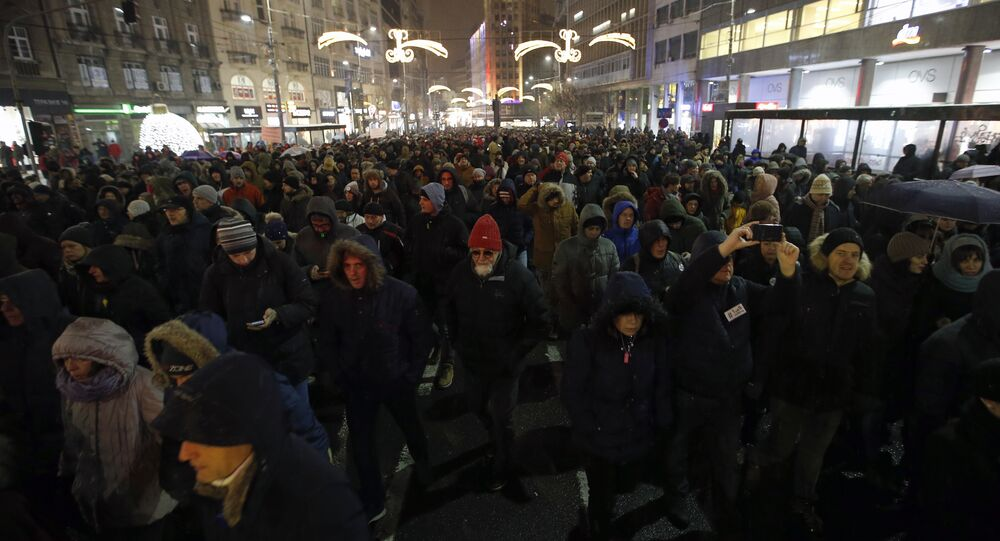 SERBIA PROTEST