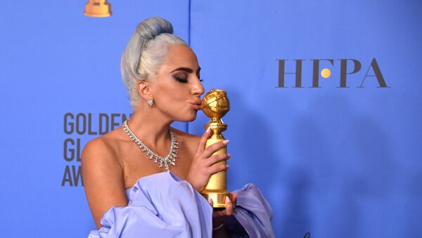 Winner for Best Original Song - Motion Picture for Shallow - A Star is Born Lady Gaga poses with the trophy during the 76th annual Golden Globe Awards on January 6, 2019, at the Beverly Hilton hotel in Beverly Hills, California. - Sputnik International