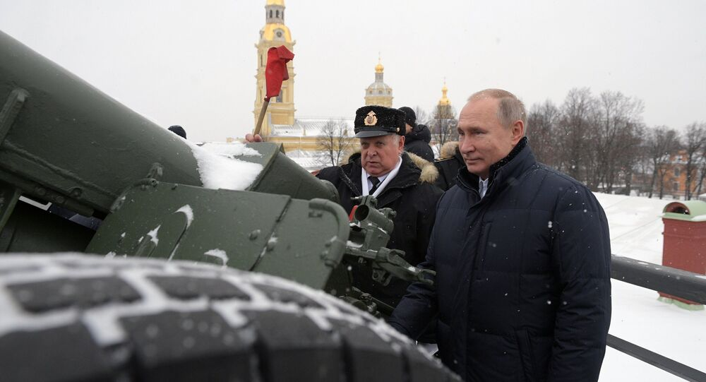 Russian President Vladimir Putin in the Peter and Paul Fortress