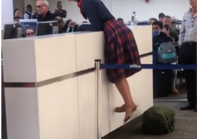 Woman has outburst at US airport