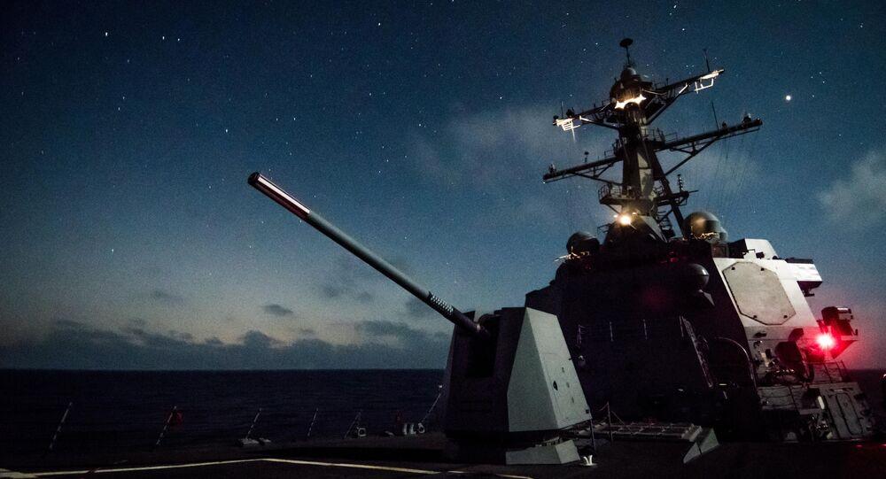 USS Dewey and the Mk 45 deck gun