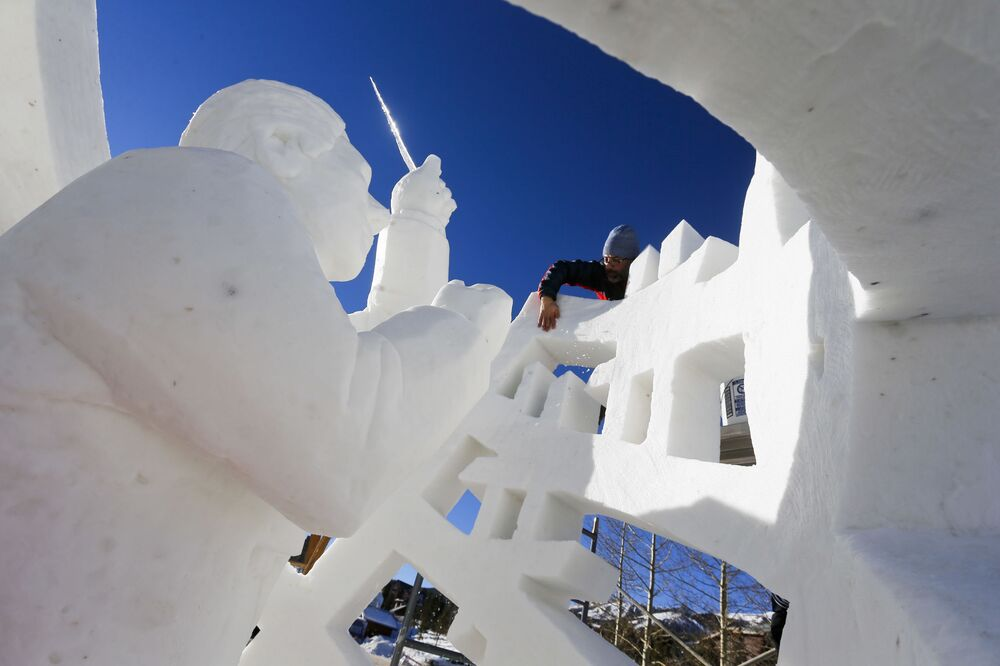 The International Championship Dedicated to Snow Sculpture in Colorado
