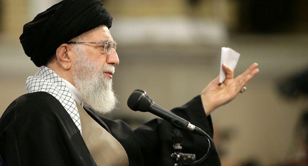 Iran's Supreme Leader Ayatollah Ali Khamenei meets with people of Qom, in Teheran, Iran, January 9, 2019