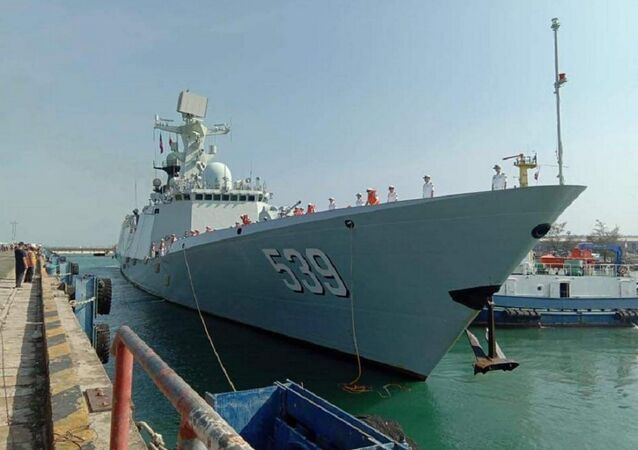 Three Chinese naval ships arrive in Sihanoukville this morning for a port of call visit
