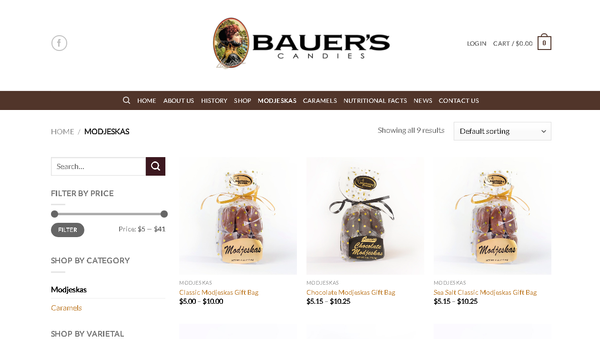 Screengrab of the Bauer's website, showing the candies which may be contaminated. - Sputnik International