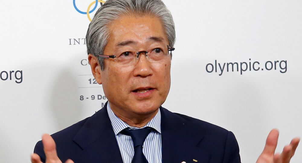 Tsunekazu Takeda, President of the Japanese Olympic committee, attends a news conference during the 127th International Olympic Committee (IOC) session in Monaco, December 8, 2014