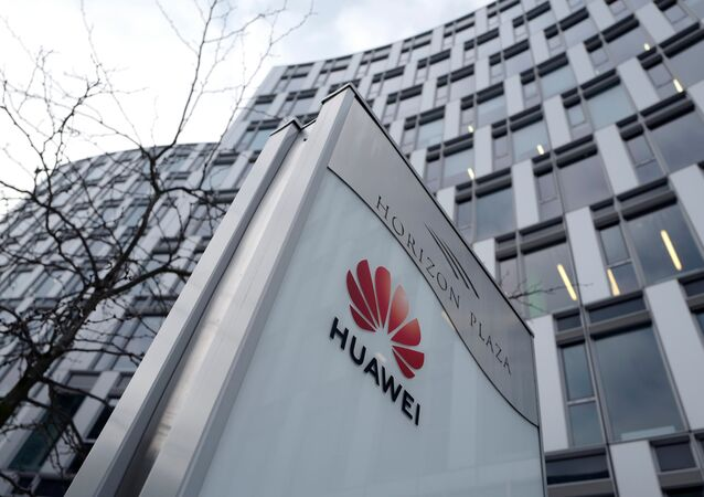 Logo of Huawei is seen in front of the local offices of Huawei in Warsaw, Poland, 11 January, 2019