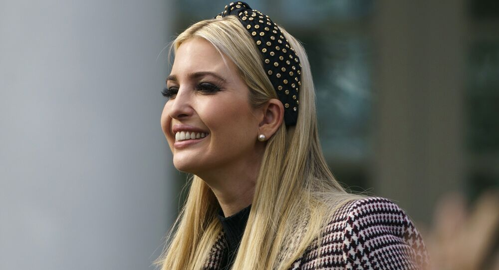 In this Nov. 20, 2018, file photo, Ivanka Trump, the daughter of President Donald Trump, arrives for a ceremony to pardon the National Thanksgiving Turkey in the Rose Garden of the White House in Washington