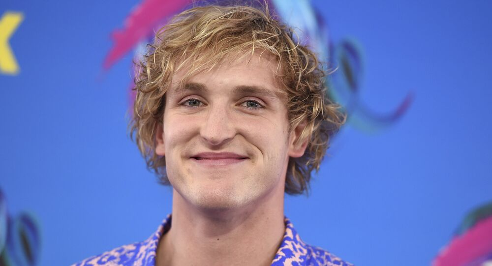 Logan Paul arrives at the Teen Choice Awards at the Galen Center on Sunday, Aug. 13, 2017, in Los Angeles