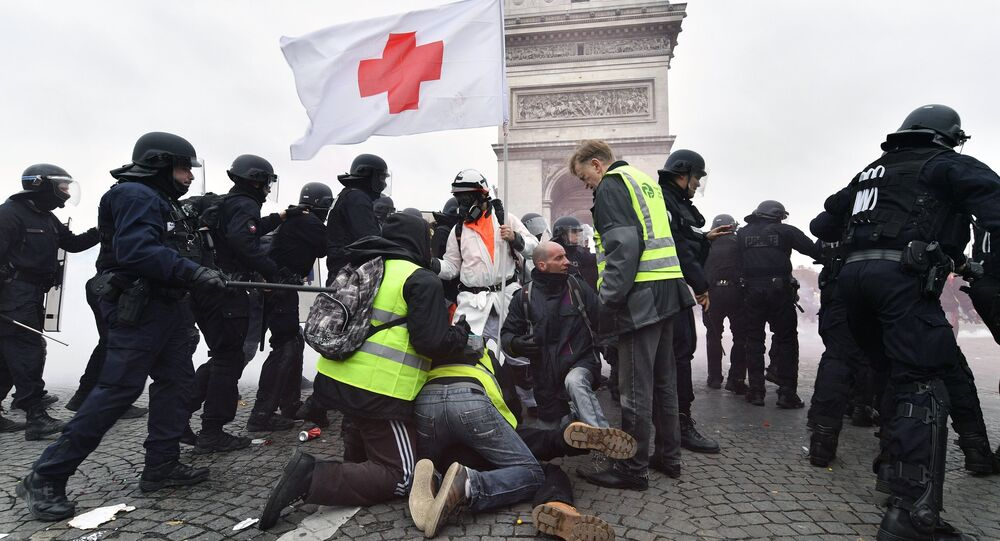 Yellow Vests protest in Paris. 12 January