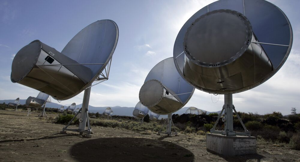 radio telescopes of the former Allen Telescope Array in Hat Creek, Calif.