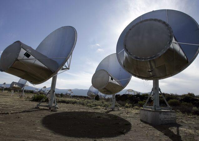 radio telescopes of the former Allen Telescope Array in Hat Creek, Calif.