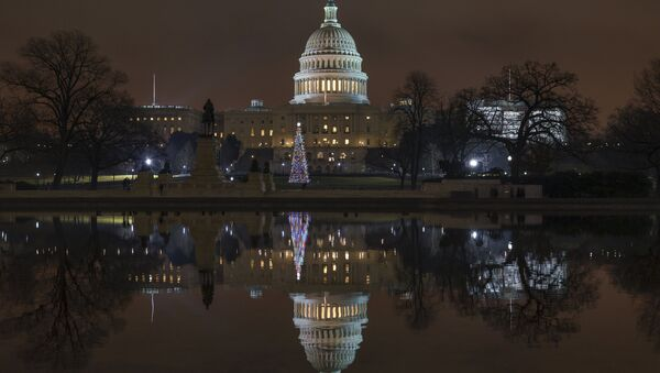 The US Capitol building is mirrored in the Reflecting Pool in Washington DC Dec. 28, 2018. - Sputnik International