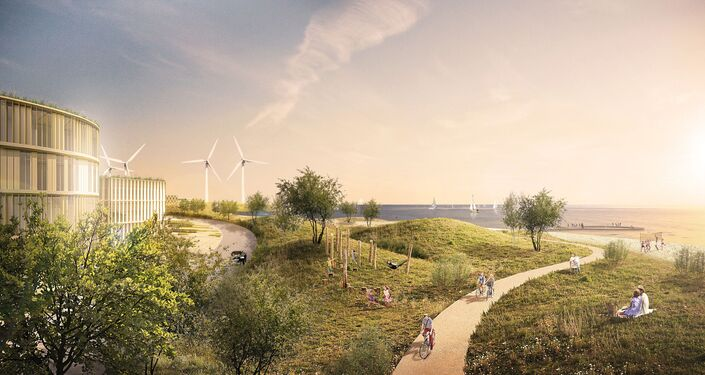 A concept artist rendition of the Holmere Project in Denmark.