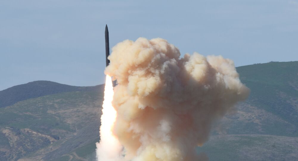 This photo provided by the Defense Department's Missile Defense Agency, taken Jan. 28, 2016, shows a long-range ground-based interceptor is launched from Vandenberg Air Force Base, Calif.
