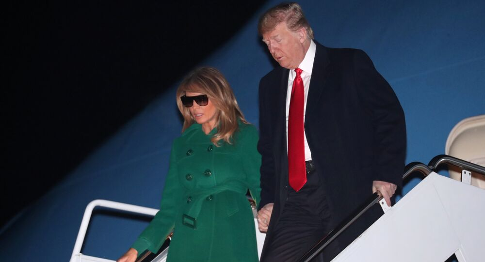 U.S. President Donald Trump and first lady Melania Trump arrive aboard Air Force One at the end of an unannounced visit with U.S. troops in Iraq, at Joint Base Andrews, Maryland, U.S. December 27, 2018