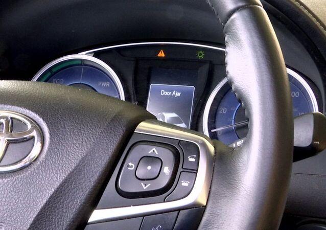 dashboard of a Toyota sedan