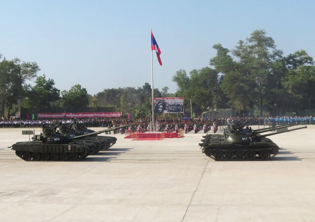 Parade dedicated to the founding of the Lao People's Army, January 20, 2019.