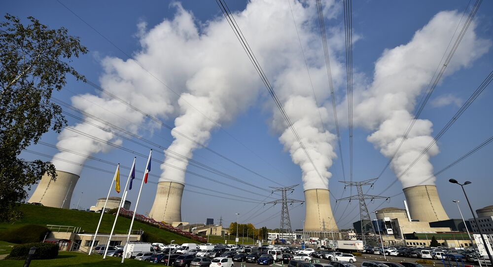 The cooling towers at Cattenom nuclear power station in France, near the Luxembourg border
