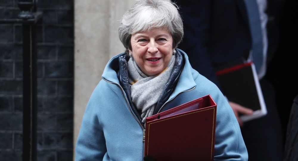 Britain's Prime Minister Theresa May leaves Downing Street in London, Britain, January 21, 2019