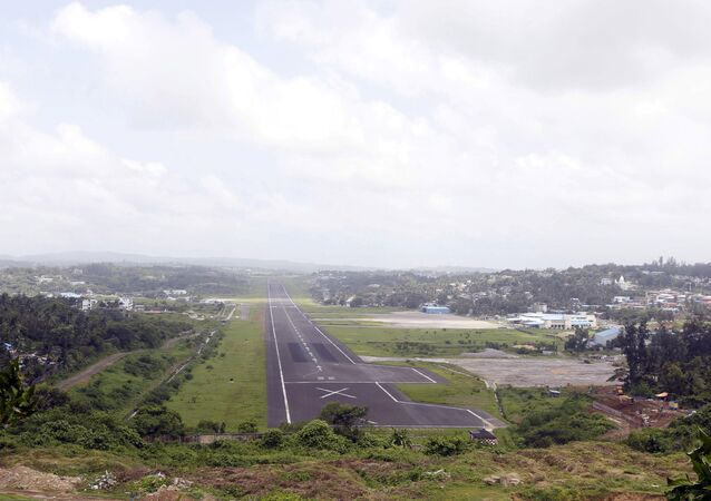 A general view of the runway controlled by the Indian military is pictured at Port Blair airport in Andaman and Nicobar Islands, India, July 4, 2015