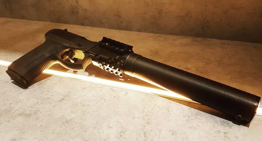 Udav semi-automatic pistol with suppresor