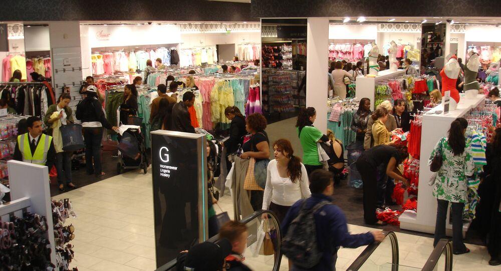 Shoppers in Primark