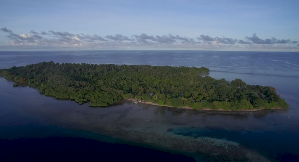 Aerial shot of Papua New Guinea's Buka Island