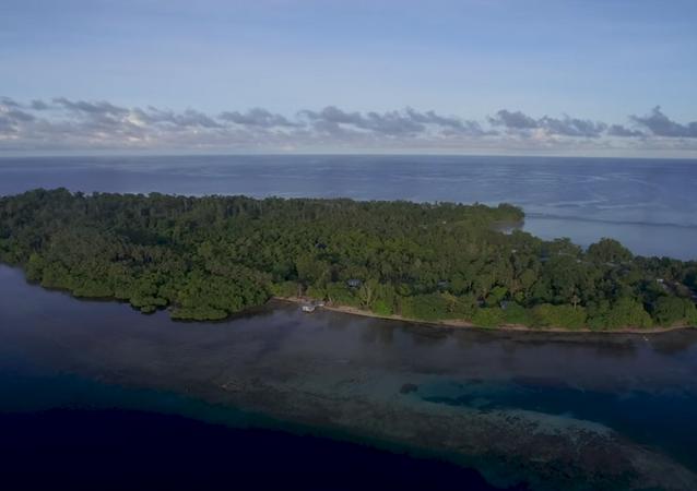 Aerial shot of Papua New Guinea's Buka Island