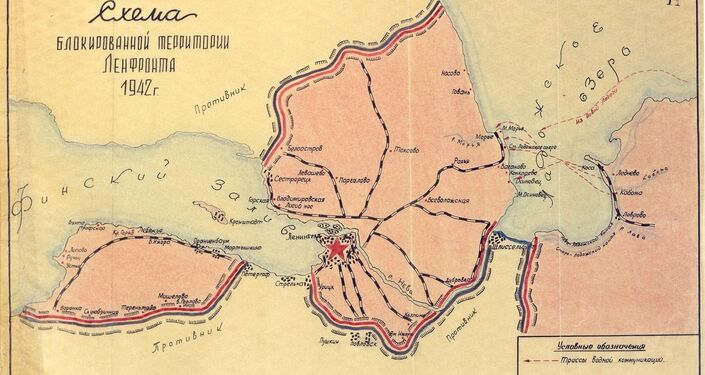 Map of the Leningrad Front, 1942 from the recently declassified Defence Ministry documents.