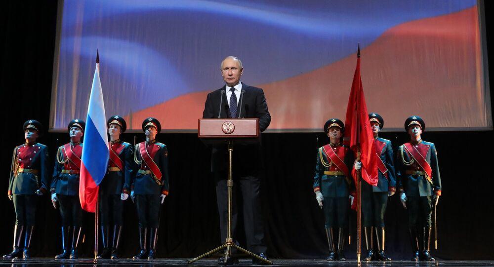 President Putin attends events marking 75th anniversary of breaking Nazi siege of Leningrad.