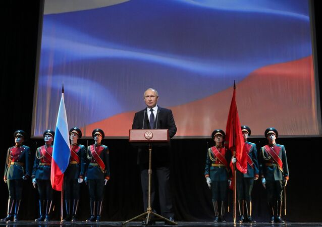 President Putin attends events marking 75th anniversary of breaking Nazi siege of Leningrad.