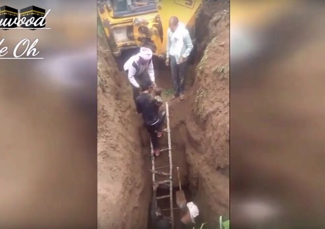 Two-year-old boy rescued after falling in 70-foot-deep borehole