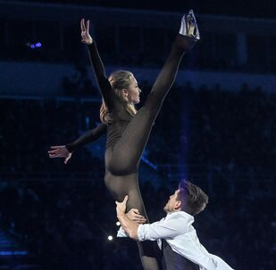 Alexandra Stepanova and Ivan Bukin at Rostelecom Cup Gala Show