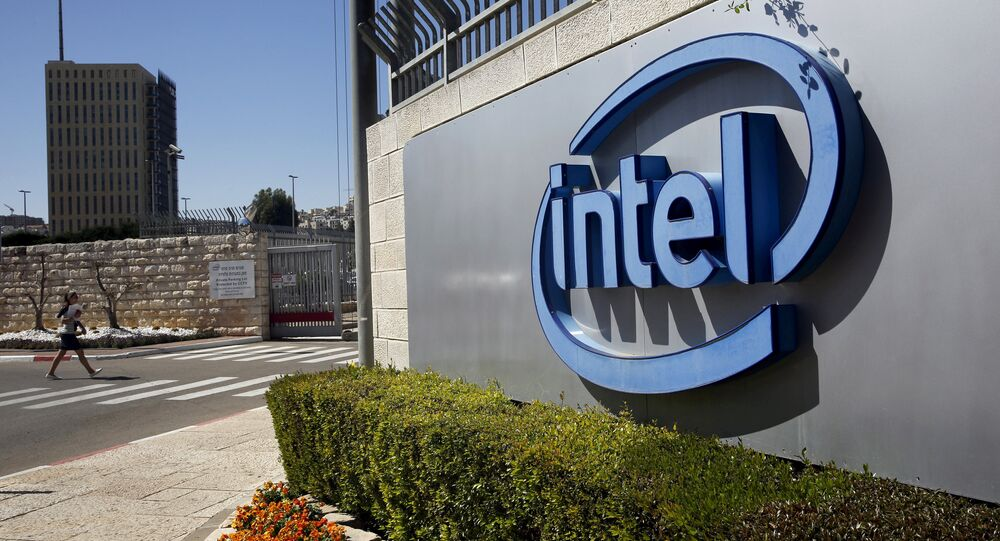 FILE PHOTO: The logo of Intel, the world's largest chipmaker is seen at their offices in Jerusalem, April 20, 2016