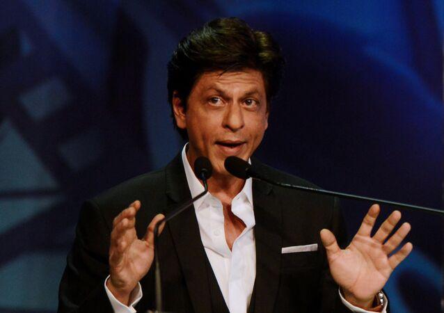 Indian Bollywood actor Shah Rukh Khan speaks during the inauguration of the 24th Kolkata International Film Festival in Kolkata on November 10, 2018