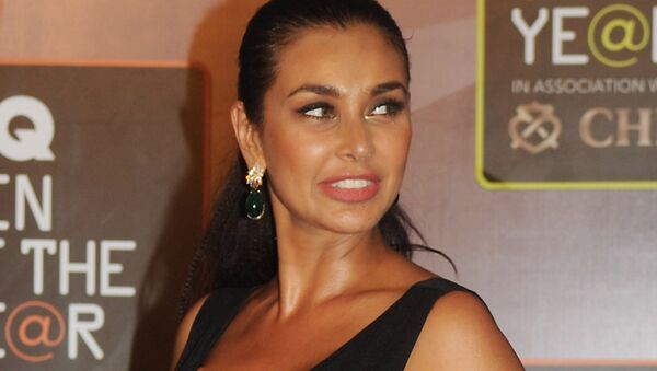 Canadian and Bollywood actress Lisa Ray attends the GO Men of the Year Awards in Mumbai on September 26, 2015 - Sputnik International