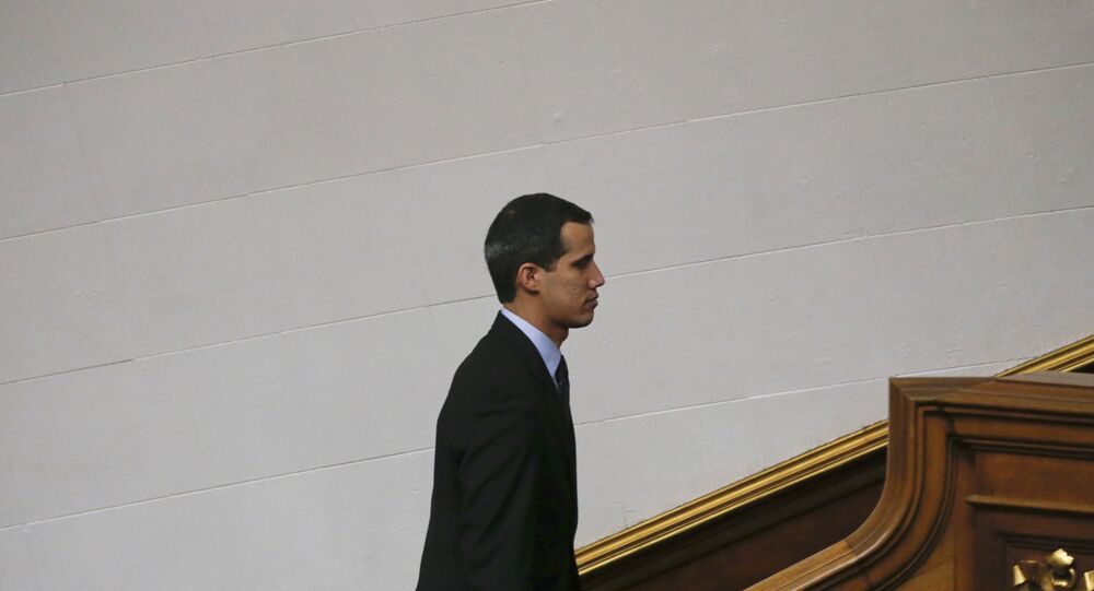 Opposition National Assembly President Juan Guaido
