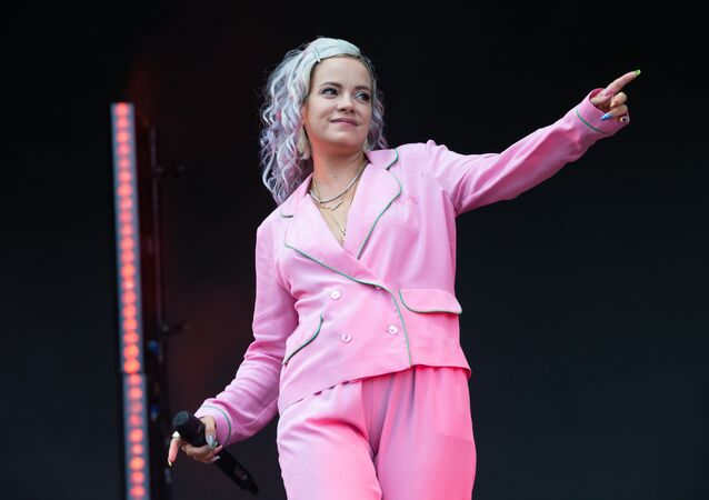 English singer-songwriter Lily Allen performs during weekend two of the ACL Music Festival at Zilker Park in Austin on October 12, 2018.