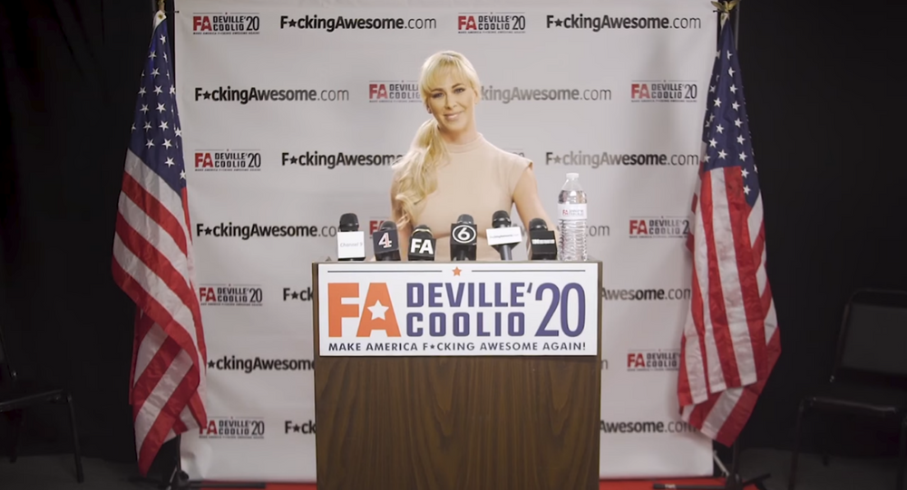 Adult film actress Cherie DeVille announces the end of her 2020 presidential bid after failing to gain support from the American voters.