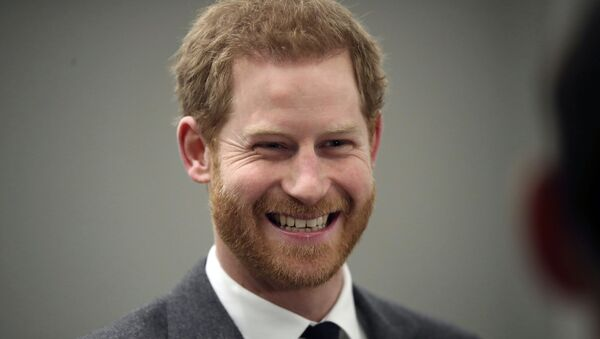 Britain's Prince Harry smiles during the 'Walk Of America' launch in London, Wednesday, April 11, 2018.  - Sputnik International