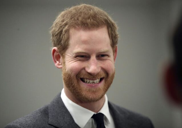 Britain's Prince Harry smiles during the 'Walk Of America' launch in London, Wednesday, April 11, 2018.
