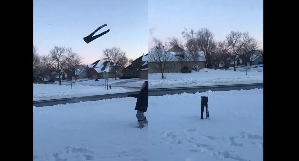 Polar Performance: Frozen Sweatpants Flip, Stick the Landing