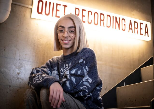 French singer Bilal Hassani poses in Paris on January 28, 2019. Bilal Hassani, 19, will represent France at the 2019 Eurovision Song Contest in May. Thomas SAMSON / AFP