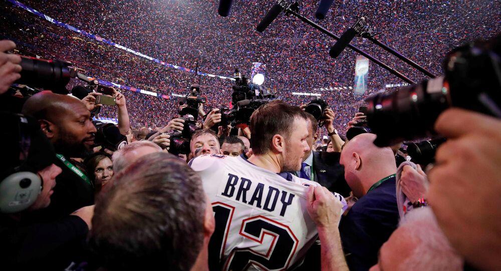 NFL Football - Super Bowl LIII - New England Patriots v Los Angeles Rams - Mercedes-Benz Stadium, Atlanta, Georgia, U.S. - February 3, 2019. New England Patriots' Tom Brady celebrates winning the Super Bowl LIII